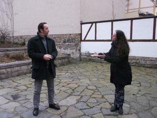 Dietmar Schulze und Ulrike Richter beim Proben