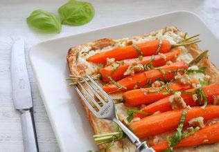 Karotten-Feta-Tarte