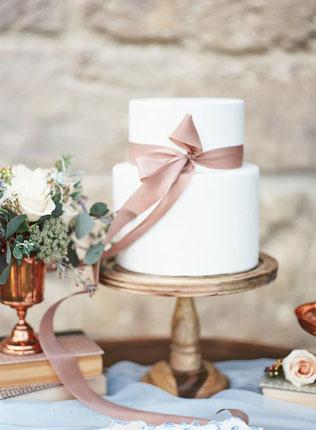 gâteau de mariage ruban