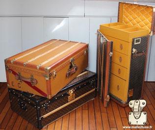 Moynat cabin trunk - Louis Vuitton cabin trunk - Goyard wardrobe trunk