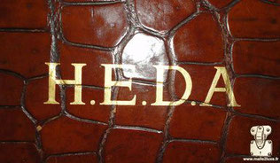 HEDA hermes crocodile bag personalization