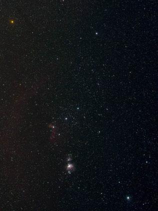 Foto: Werner Stupka mit dem Sternbild Orion