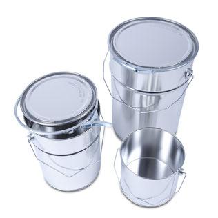 Metal pails Metal packaging HUBER Packaging