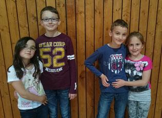 von links: Emilia, Sebastian, Benjamin, Laura