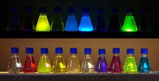 fluorescence, lumière noire, UV, ultraviolets