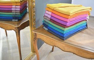Reversible Kollektion - irische Wolldecken aus Lambswool  - S. Fischbacher Living