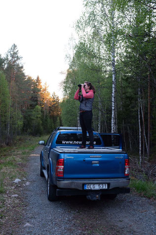 Waldarbeit steht auch auf dem Programm: Raphaela Polk im Einsatz