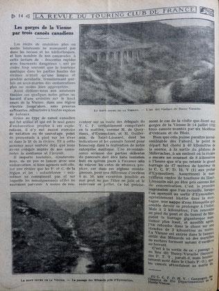 BARBERON, Les gorges de la Vienne, 1923 (la Bibli du Canoe)