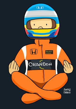 Fernando Alonso y su McLaren MCL32 - Honda RA617H V6 by Muneta & Cerracín