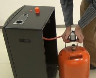Estufa de gas con bombona