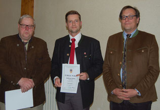 Volker Wolfram, Andreas  Geiser erhalten die Ehrennadel in Bronze
