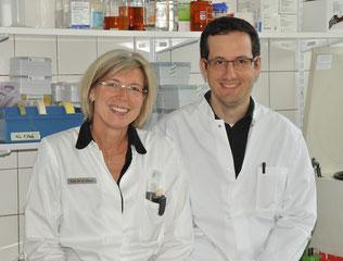 Prof. Dr. med. Regine Gläser und Prof. Dr. rer. nat. Jürgen Harder