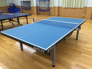 板面色が「レジュ ブルー」の卓球台