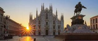Abendstimmung in Mailand vor der Scala