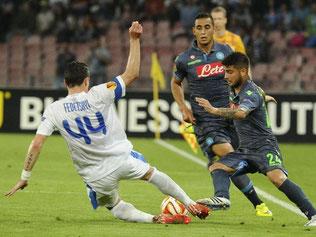Neapel und Dnjepropetrowsk trennten sich im Hinspiel 1:1. Foto: Ciro Fusco