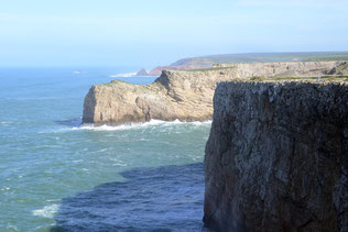 Die Klippen bei Cabo de Sao Vicente