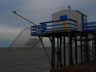die Fischerhütten mit dem vorgespannten Gliep