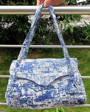 sac,sac à main,artisanal, beau tissu,fait main, France, bleu, tendance,mode, fabriqué en France, création textile,