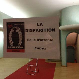La Disparition, Théâtre la Passerelle, Saison 2016/2017, Begat Theatre, Gap
