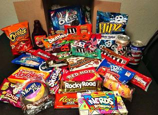 geschenkideen mädchen erlebnisgeschenk kinder American Candy Süßigkeiten lecker teen