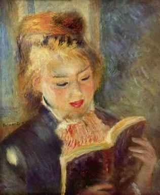 "Pier-Auguste Renoir, ""La lettrice"" (1876)"