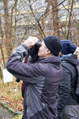 Vogelbeobachtung mit dem NABU Leipzig. Foto: René Sievert