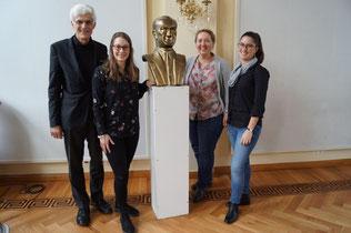 Die vierköpfige Gruppe aus Leer nahm an Hospitationen und Vorträgen an der Deutschen Schule teil.