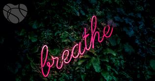 Atem Schriftzug in Blättern