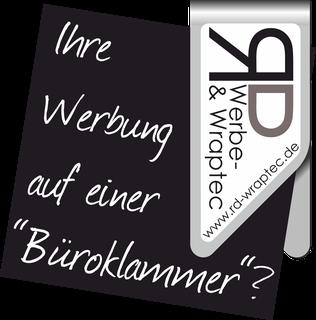 Werbeartikel Büroklammer Promoclip Digitaldruck Geldklammer