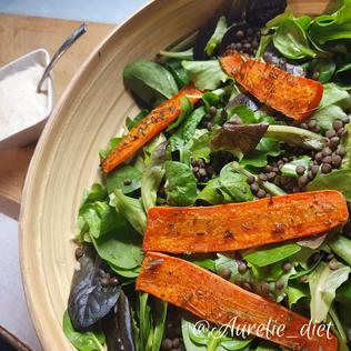 salade hiver lentille carotte