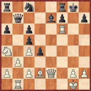 Milde - Vaccargiu: Hier entschied sich Mathias gegen das starke 22.Dg4!+ was vermutlich zu entscheidendem Materialvorteil geführt hätte