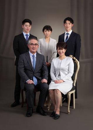 七五三、家族写真
