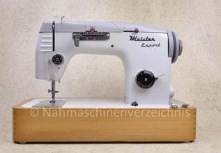 Meister Export 331, Flachbett-Haushaltsnähmaschine mit ZZ und Schablonenautomatik, Hersteller: Meister-Werke GmbH Schweinfurt (Bilder: Nähmaschinenverzeichnis)