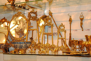 イーゼル 靴ベラ スタンドミラー リングホルダー イタリア製 真鍮雑貨 ブラス製 インテリア雑貨 置物 スティラーズ STILARS