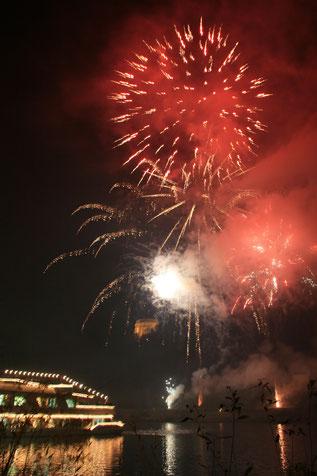 Das Feuerwerk im vollem Gange
