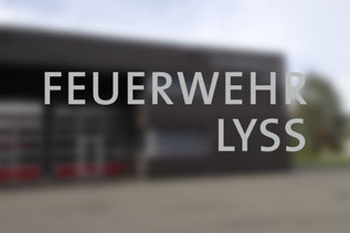 Beschriftung von dickesdesign für Feuerwehr Lyss