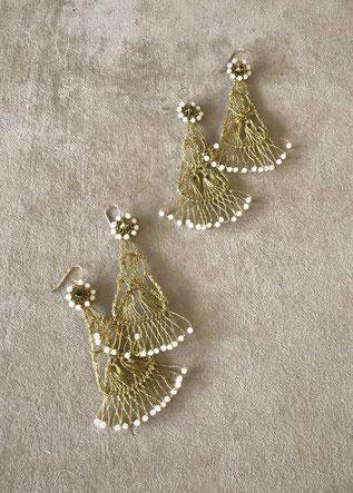 Perles en porcelaine et pierre de Hématite ou Crystal de Swarovski coloré