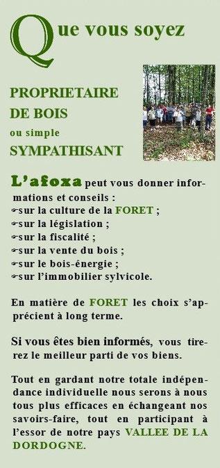 Flyers de l'AFOXA  (Association des Forêts de Xaintrie)