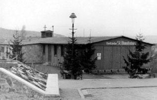 dudweiler, saarbruecken, notkirche, st. bonifatius, 1954