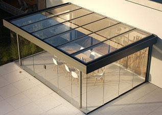 Glashaus modern/kubisch
