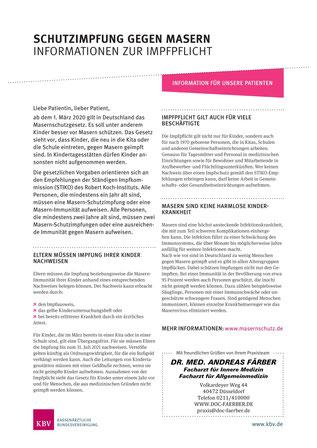 Schutzimpfung gegen Masern - Informationen zur Impfpflicht gegen Masern