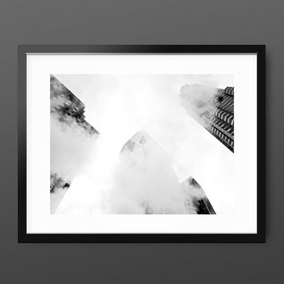 Skyscraper Street Photography Print 'Skyscraper Clouds' by PASiNGA