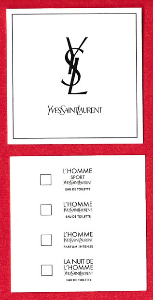 YSL - L'HOMME CARTE MULTI-FRAGRANCES : RECTO & VERSO