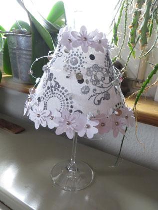 Lampenschirm für ein Weinglas