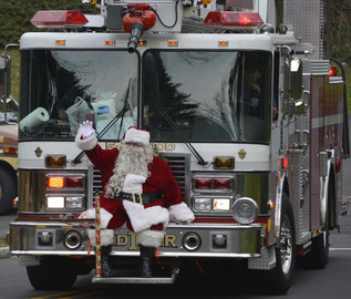 Santa will visit Fanwood on December 16th