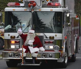 Santa will visit Fanwood on December 16th