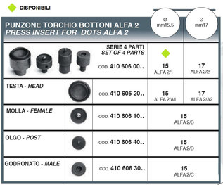 punzone torchio bottoni alfa 2