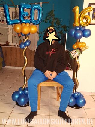 Geburtstagsdekoration zum 16. Geburtstag