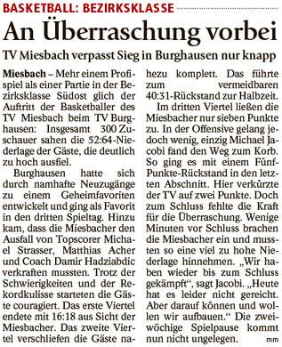 Bericht im Miesbacher Merkur am 25.10.2016 -  Zum Vergrößern klicken