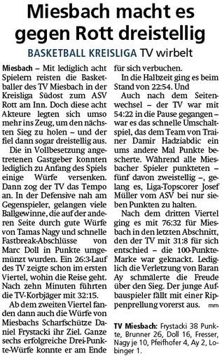 Bericht im Miesbacher Merkur am 11.2.2020 - Zum Vergrößern klicken